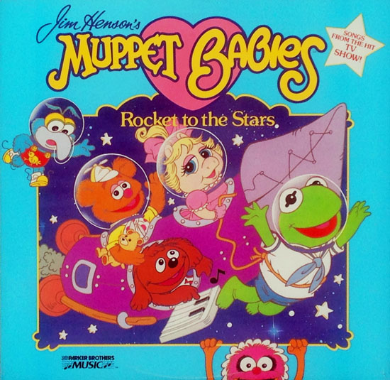 JIM HENSON'S MUPPET BABIES Rocket to the Stars LP cover